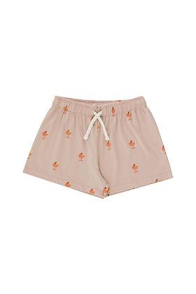 Tiny Cottons Ice Cream Cup Short (Dusty Pink/Papaya)