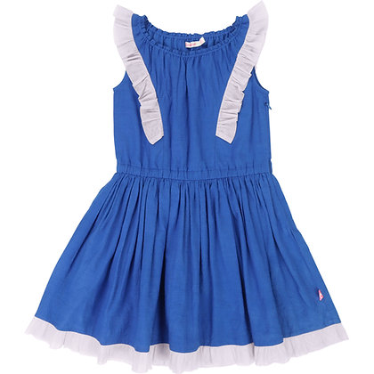 Billieblush Cotton Fancy Weave Dress (Blue)