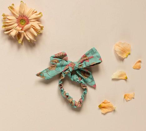 Louise Misha Kim Scrunchie (Turquoise Flowers)