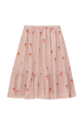 Tiny Cottons Ice Cream Cup Skirt (Dusty Pink/Papaya)