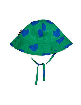 Mini Rodini Hearts Sun Hat (Green)