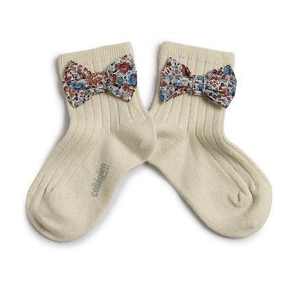 Collégien Liberty Bow Ankle Socks (No. 037 Doux Agneaux)