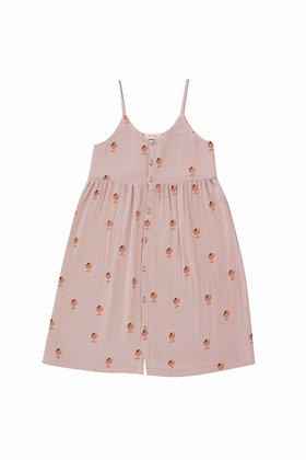 Tiny Cottons Ice Cream Cup Dress (Dusty Pink/Papaya)