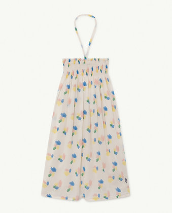 The Animals Observatory Crab Kids Dress (White Strokes)