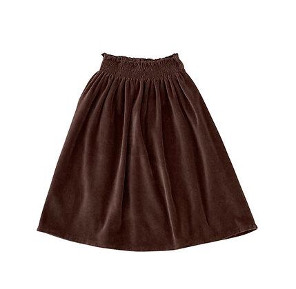 Liilu Smocked Skirt (Brownie)