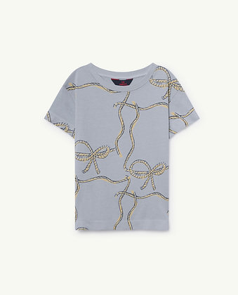 The Animals Observatory Rooster Kids T-Shirt (Blue Ropes)