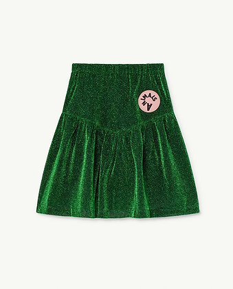 The Animals Observatory Turkey Kids Skirt (Electric Green)