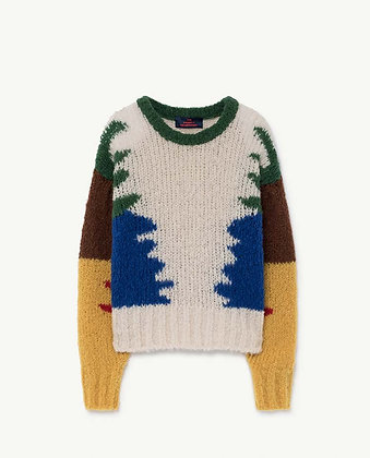 The Animals Observatory Blowfish Kids Sweater (Multicolor)
