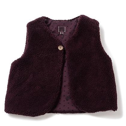 Bonton/Bonbon Sleeveless Vest  (Plum Pudding)