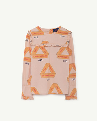 THE ANIMALS OBSERVATORY GADFLY KIDS SHIRT (ROSE TRIANGLES)