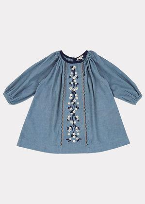 Caramel Nightjar Dress (Steel Blue)