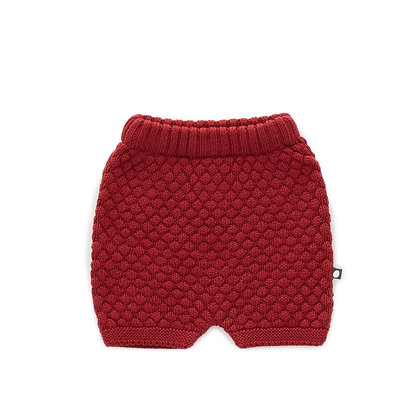 Oeuf Honeycomb Shorts (Dark Red)