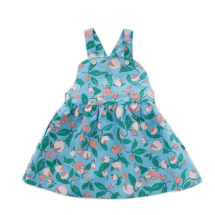Oeuf Overall Dress (Blue Flowers)