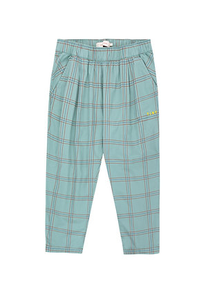 Tiny Cottons Check Pleated Pant (Sea Green/Red)
