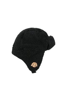 Tiny Cottons 'Tiny Dog' Sherpa Chapka (Black)