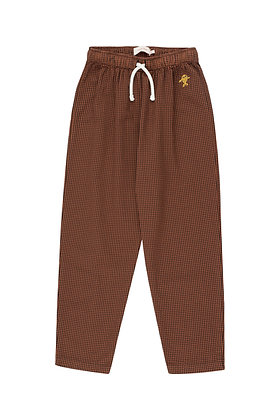 Tiny Cottons Check Pant (Cinnamon/Ink Blue)
