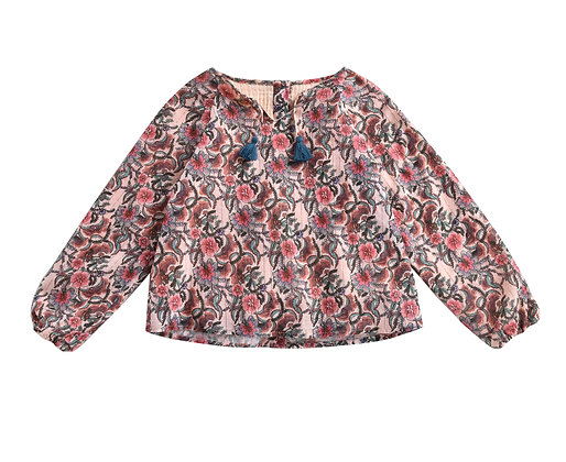 Louise Misha Calleta Blouse (Blush Flowers)
