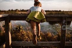 Girl wearing Airfish Lola Top and Oslo Skirt