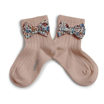 Collégien Liberty Bow Ankle Socks (No. 331 Vieux Rose)