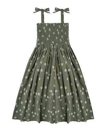 Rylee + Cru Daisy Ivy Smocked Dress (Fern)