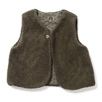 Bonton/Bonbon Sleeveless Vest  (Khaki)