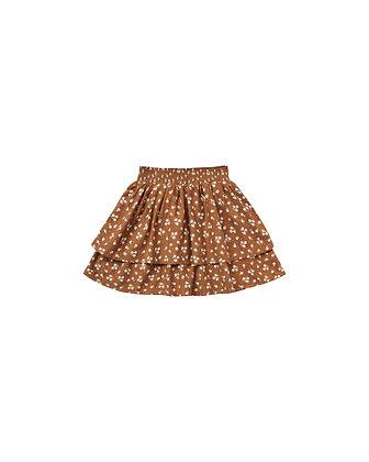 Rylee + Cru Ditsy Tiered Mini Skirt (Cinnamon)