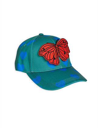 Mini Rodini Hearts Cap (Green)