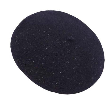 Bonton/Bonbon Glitter Beret (Bleu)