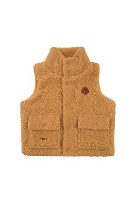 Tiny Cottons 'Tiny Dog' Sherpa Vest (Camel)