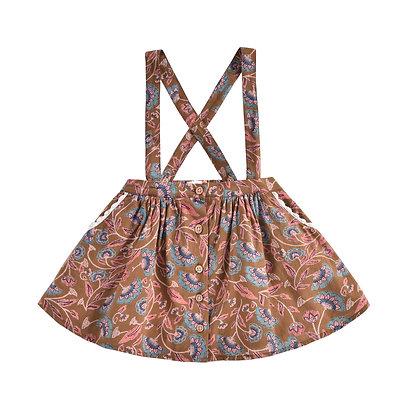 Louise Misha Asanna Skirt (Bronze Folk Flowers)