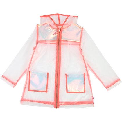 Billieblush Irridescent shine Raincoat (Transparent)