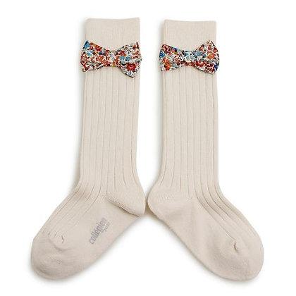 Collégien Liberty Bow Knee-High Socks (No. 037 Doux Agneaux)