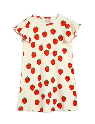 Mini Rodini Strawberry Wing Dress (Offwhite)