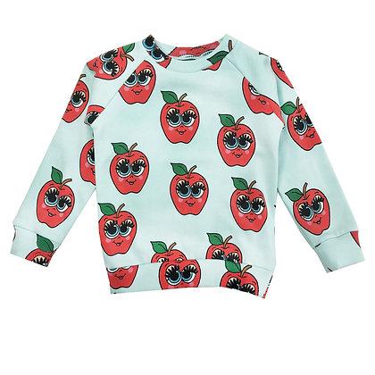 Hugo Loves Tiki Sweatshirt (Blue Apples)