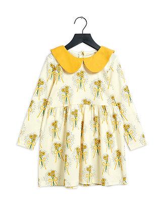 Mini Rodini Winterflowers Dress (Yellow)