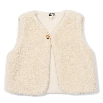 Bonton/Bonbon Sleeveless Vest  (Latte)