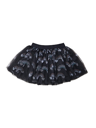 Huxbaby Rainbow Tulle Skirt (Black)