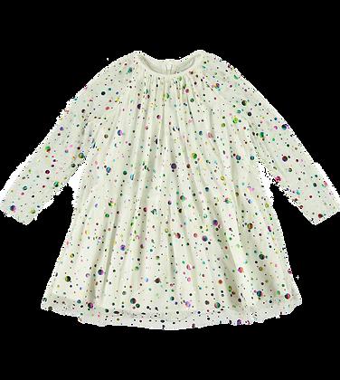 Stella McCartney Girl Foil Dots Tulle Dress (Multi)