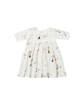 Rylee + Cru Winter Birds Finn Dress (Ivory)