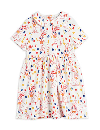 Mini Rodini MR Rabbit Dress (Offwhite)