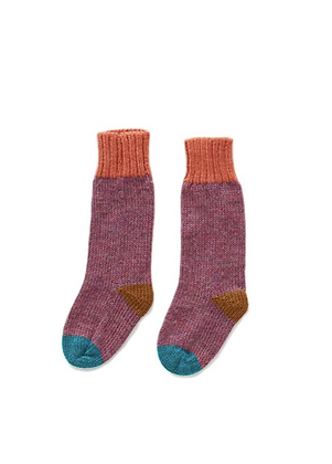 Oeuf Long Socks (Mauve/Multi)