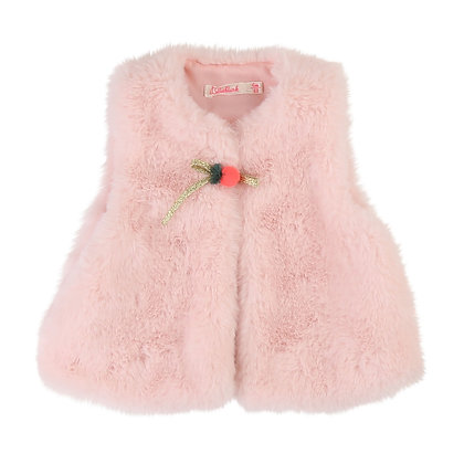 Billieblush Baby Faux Fur Vest (Pink)