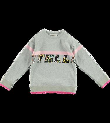 Stella McCartney Girl Sweatshirt With Camo Logo (Gray)