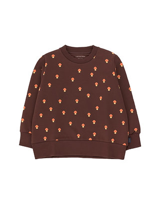 Tiny Cottons 'Mushrooms' Sweatshirt (Ultra Brown/Red)