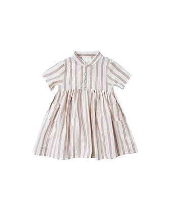 Rylee + Cru Stripe Esme Dress (Truffle)