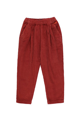 Tiny Cottons Solid Pleated Pant (Dark Brown)