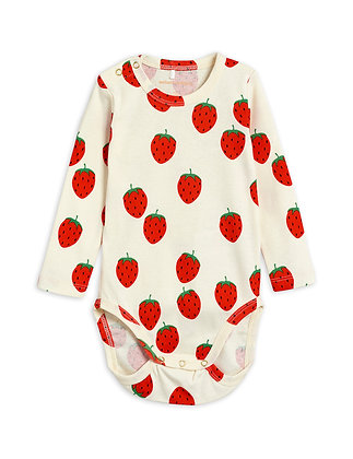 Mini Rodini Strawberry Body (Offwhite)