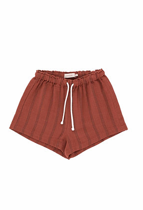 Tiny Cottons Stripes Short (Maroon/Ink Blue)