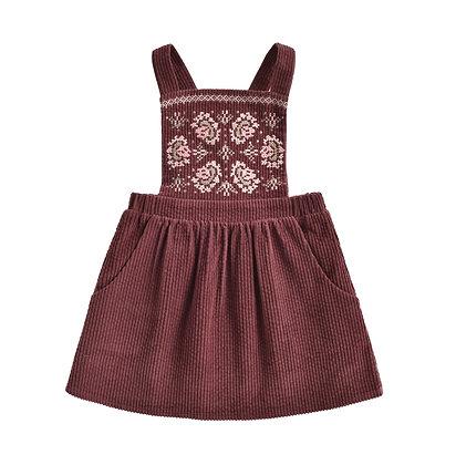 Louise Misha Liama Dress (Aubergine Velvet)