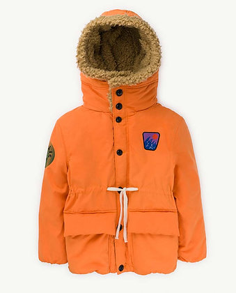 The Animals Observatory Calf Kids Jacket (Orange Animals)